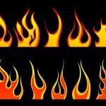 Fire patterns set — Stock Vector #3453350