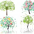 Blossom tree — Stock Vector