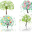 Stock Vector: Blossom tree