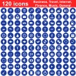 120 icons set — Stock Vector