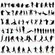 Royalty-Free Stock Imagen vectorial: Dance and sport set