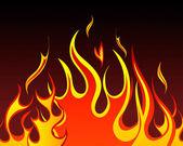 Fire patterns set — Stock Vector