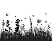 Grano ed erba — Vettoriale Stock
