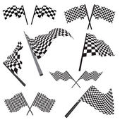 Set of racing flags — Stockvector