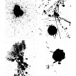 Set of ink blots — Stockvectorbeeld