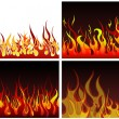 Stock Vector: Fire backgrounds set
