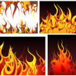 Fire backgrounds set — Stock Vector #3475966