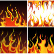 Fire backgrounds set — Stock Vector #3475973