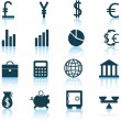 Financial icon set — Stock Vector