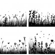 Meadow silhouettes - Stock Vector