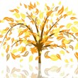 Stock Vector: Autumn tree