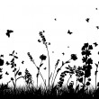 Meadow silhouettes — Vettoriali Stock