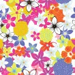 Seamless floral background — Stockvector #3498823