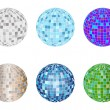 Royalty-Free Stock Vector Image: Disco spheres set