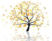 Arbre automne — Vecteur