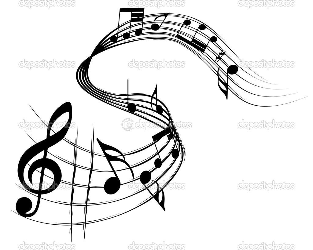 Vector musical notes staff background for design use — Stock Vector #3491442