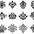 Royalty-Free Stock Vectorielle: Damask emblem set