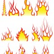 Royalty-Free Stock Vector Image: Fire patterns set
