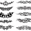 Royalty-Free Stock Vector Image: Tattoos set