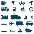 Royalty-Free Stock Vector Image: Transportation icons set