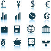 Financial icons set — Stock Vector