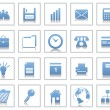 Business and office icons set — Stock Vector #3604903