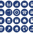 Business and office icons set — Stock Vector #3604913