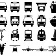 Transportation icons set — Stock Vector #3604975