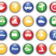 Transportation icons set — Stock Vector #3604977