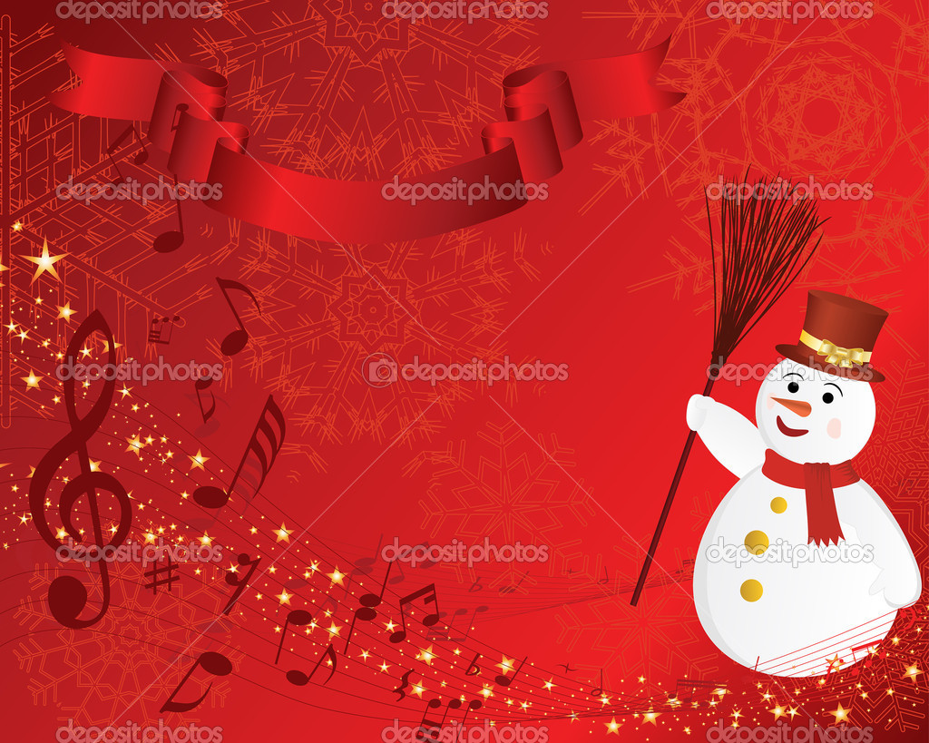 Beautiful vector Christmas (New Year) background for design use  Stock Vector #3604486