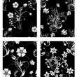 nahtlose floral Backgrounds Satz — Stockvektor