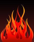 Arka plan ateş — Stok Vektör