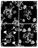 Seamless floral backgrounds set — Stockvector
