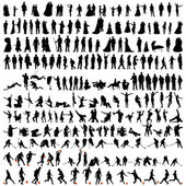 Bigest collection of silhouettes — Stock Vector