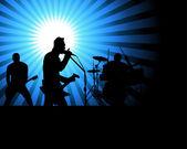 Rock group — Stock Vector