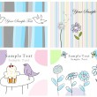 Set of greeting cards — Stock vektor