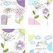 Set of greeting cards — Vector de stock