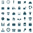 Business and office icons set - Stockvectorbeeld