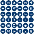 Transportation icons set - Stockvektor
