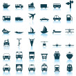 Transportation icons set — Stock Vector #3626785