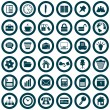 Business and office icons set — Stock Vector #3626792