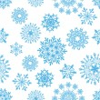 Seamless snowflakes background - Stock Vector