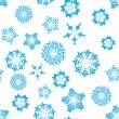Seamless snowflakes background — Vettoriali Stock