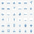 Transportation icons set — Stock Vector #3627919