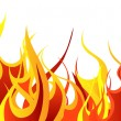 Stock Vector: Fire background