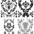 Seamless damask patterns set — Stock Vector #3628006