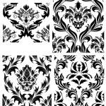 Seamless damask patterns set — Stock Vector #3628059