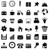 Bedrijf en kantoor iconen set — Stockvector