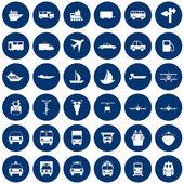 Vervoer icons set — Stockvector