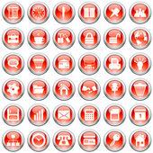 Unternehmen und das büro icons set — Stockvektor
